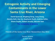 Estrogenic Activity and Emerging Contaminants ... - Sonoran Institute