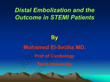 Distal Embolization and the Outcome in STEMI ... - cardioegypt2011