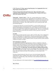 CVRx Receives European CE Mark Approval for its Electrical ...