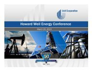 Howard Weil Energy Conference, March 20, 2013 - Unit Corporation