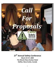 27 Annual Safety Conference - Health Promotion Clearinghouse
