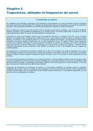 Chapitre 2 - Trajectoires, altitudes et fréquences de survol - Partie 1