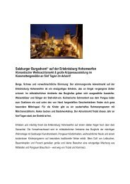 Av Märkte - Salzburgs Burgen und Schlösser
