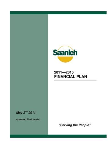 2011 - 2015 Financial Plan - District of Saanich