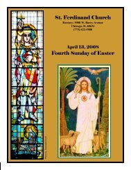 St. Ferdinand Church Fourth Sunday of Easter - Parafia św ...