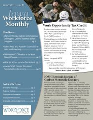 January 2011 - Issue 20 - Iowa Workforce Development