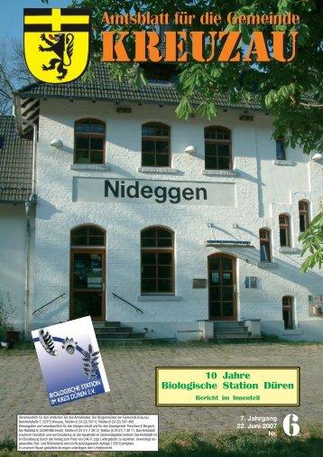 Amtsblatt Nr. 06/2007 vom 22.06.2007 - Gemeinde Kreuzau
