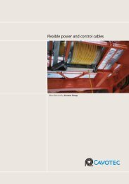 Flexible power and control cables