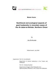 Nutritional and ecological aspects of goat husbandry in mountain ...