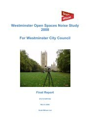 Westminster Open Spaces Noise Study 2008 Final Report