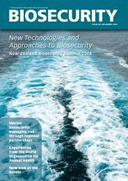 New Technologies and Approaches to Biosecurity