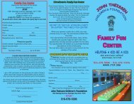 FAMILY FUN CENTER - John Theissen Children's Foundation