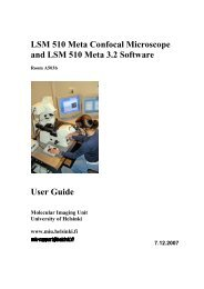 how to use lsm 510 meta confocal microscope - Biomedicum ...