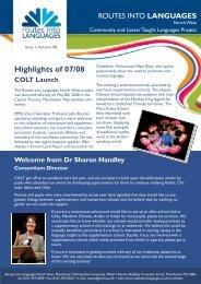COLT newsletter Autumn 08 FINAL.pub - Routes Into Languages