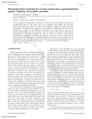 Thermodynamics modeling for moving contact line in gas/liquid/solid ...