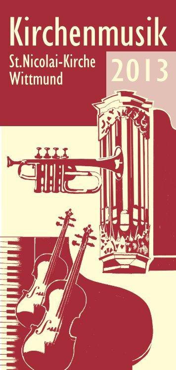 Kirchenmusik Programm 2013 - Ev.-luth. Kirchengemeinde St ...