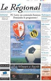 FC Lutry, un centenaire heureux Demandez le programme ! Lausanne