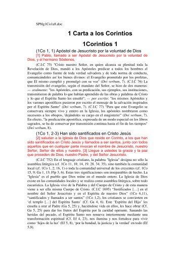 1 Carta a los Corintios 1Corintios 1