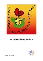 Ein Reader zu den Übungen des Trainings - Friedensstifter Baden