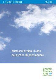 Klimaschutzziele in den deutschen Bundesländern