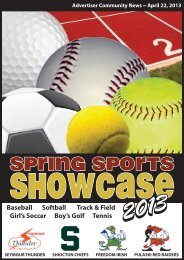 Spring Sports Preview 2013 - Advertiser Community News