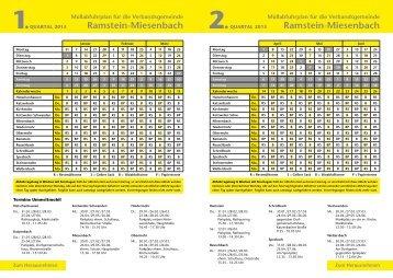 Müllabfuhrplan für 2013 in der Verbandsgemeinde Ramstein ...