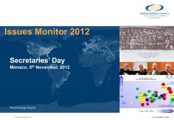 Issues Monitor National Deep Dives - World Energy Council