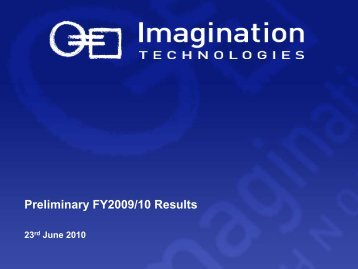 09/10 - Imagination Technologies
