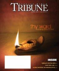Reflections on prayer - Baptist Bible Tribune