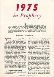 1975 In Prophecy PDF - Church of God Faithful Flock