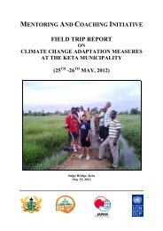 mentoring and coaching initiative field trip report on climate change ...