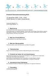Protokoll zur GV 2008 vom 13.11.2008