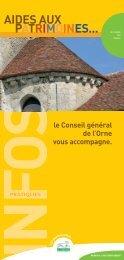 Aides aux patrimoines - Conseil Général de l'Orne