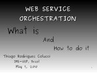 WEB SERVICE ORCHESTRATION - USP