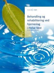 Behandling og rehabilitering ved hjerneslag i Helse Vest