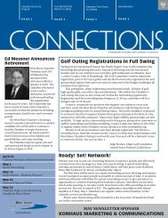 The Newsletter of the West Shore Chamber of