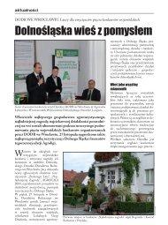 Dolnośląska wieś z pomysłem - Dolnośląski Ośrodek Doradztwa ...