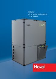 Belaria® air to water heat pumps 15 to 33 kW - Hoval