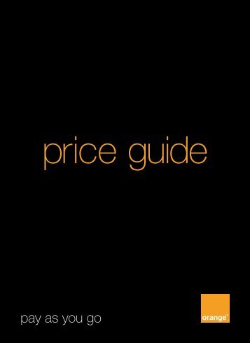 price guide - Orange