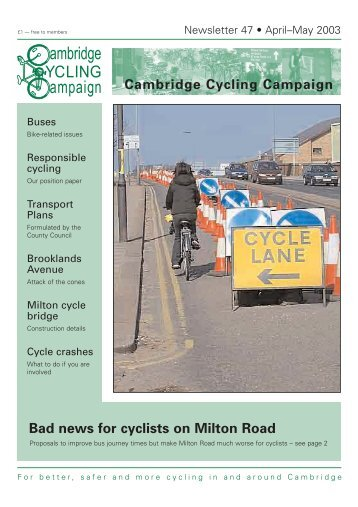 Cambridge Cycling Campaign - Newsletter 47