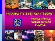 PHARMACY'S BEST KEPT SECRET UNITED STATES ... - AACP
