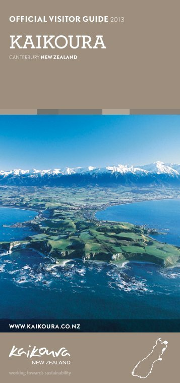 OFFICIAL VISITOR GUIDE 2013 - Kaikoura
