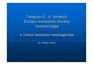 Európa mezozoós metallogéniája