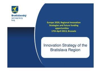 Innovation Strategy of the Bratislava Region