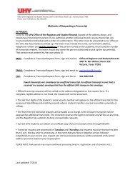 Transcript Request Form - University of Houston-Victoria