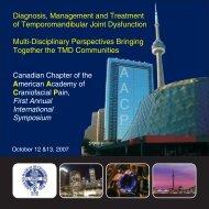Diagnosis, Management and Treatment of Temporomandibular Joint ...