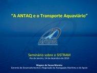 """""""A ANTAQ e o Transporte Aquaviário"""""""