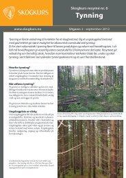 Tynning - PDF - Skogbrukets kursinstitutt