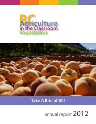 annual report 2012 - agriculture in the classroom...