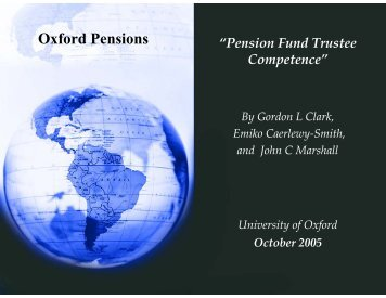 Oxford Pensions